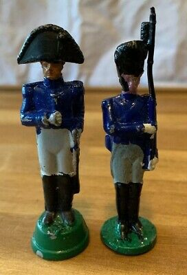 Vintage Toy Soldiers Antique Hand Painted Solid Cast Collectors Toys