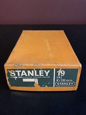 Vintage Stanley No 19 Right Angle Square With Box Made In England