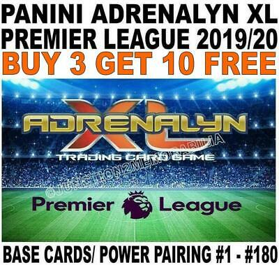 Panini Premier League 2019/20 Base Cards & Power Pairing #1 - #180 Adrenalyn Xl