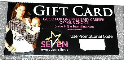 Seven Slings $40 Gift Card Baby Carrier Infant Multiple Patterns Available