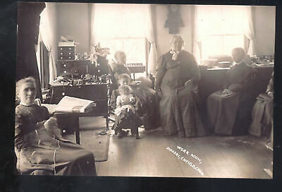 Real Photo Enfield Connecticut Ct Shakers Work Room Interior Postcard Copy