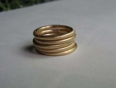 2 mm Round Brass Ring Ethiopian Wollo Round Rings Minimal jewelry simple Ring