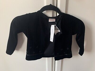 Brand New With Tags Next Girls Black Sequin Velvet Cardigan Age 3
