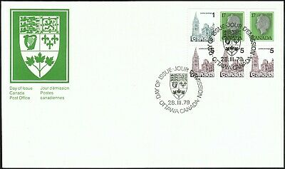 Canada sc#797a Queen Elizabeth & Houses of Parliament, Pane of Booklet Bk80, FDC