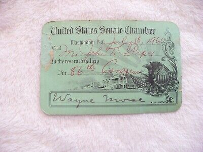 83A- 1960 Us Senate Chamber For John T Piper Wayne More Us Senator Card #5428