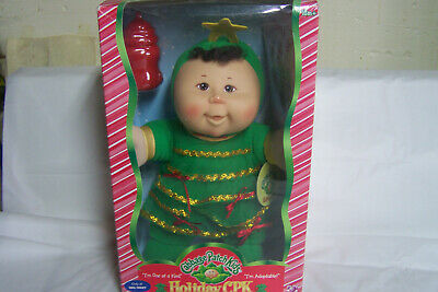 '07 One of a Kind Play Along Holiday Cabbage Patch Kid Doll, Green Dress, NIB