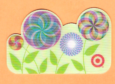 Collectible 2005 Target Gift Card - Lenticular Flowers- No Cash Value