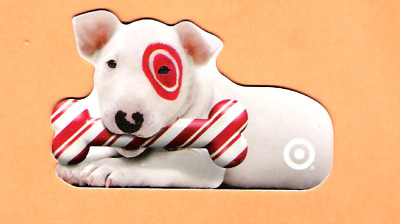 Collectible 2005 Die Cut Target Gift Card - Dog Christmas Bone - No Cash Value