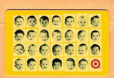 Collectible 2003 Target Gift Card - Baby Faces - No Cash Value