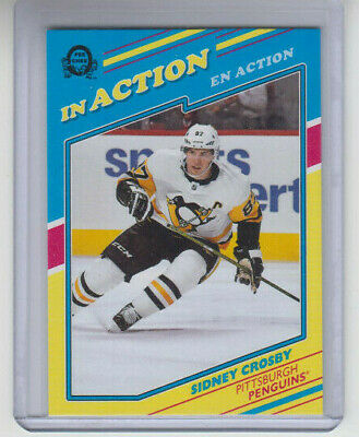 19/20 OPC Pittsburgh Penguins Sidney Crosby In Action card #L-4