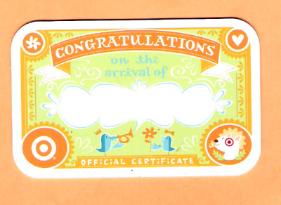 Collectible 2006 Target Gift Card - Congrats New Baby - No Cash Value