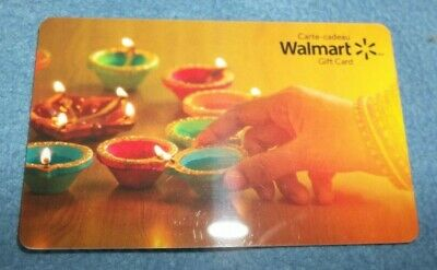 Walmart Gift Card Autumn Candle Lights 2018 Collectible $0 value FD62020-Canada