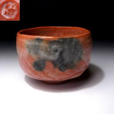 MH18: Japanese Tea Bowl of Raku Ware by Famous potter, Shoraku Sasaki, AKA RAKU