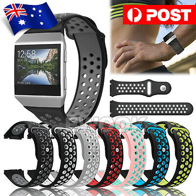 For Fitbit Ionic Strap Silicone Sports Watch Replacement Band Large OZ