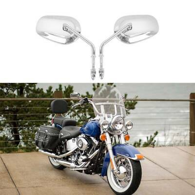 Big Chrome Motorcycle Side Mirrors for Harley Davidson Heritage Softail Classic