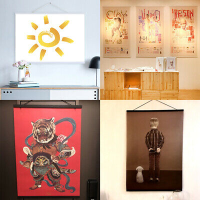 Diy Magnetic Wooden Poster Frames A4 Print Painting Scroll
