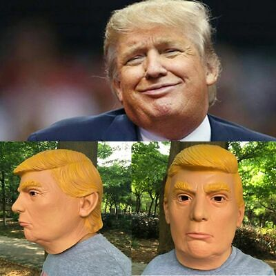 New Nude Props Adults Latex Presidential Halloween Cosplay Donald Trump Mask