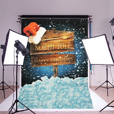 5x7ft Christmas Photo Photography Props Background Cloth Backdrop For Studio UK
