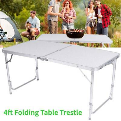 NEW 4FT FOLDING TABLE TRESTLE CAMPING PARTY PICNIC BBQ STALL GARDEN INDOOR 6Kg