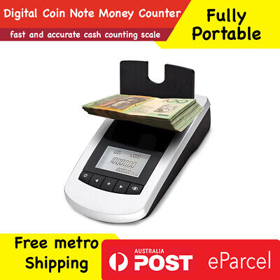 New Portable Digital Coin Note Sorter Money Counter Jewellery Aus FREE SHIPPING