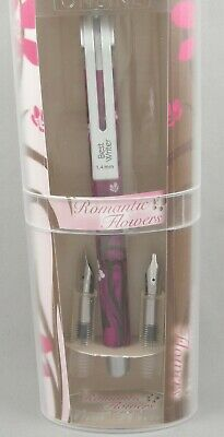 Online Germany Romantic Flowers Fuschia Calligraphy Set - 3 Nibs - New In Box