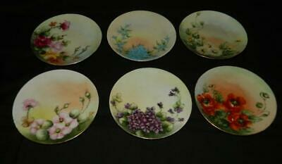 Hand Painted Plate Roses Daisy Violets Bluebells Poppy Herman Ohme Choice