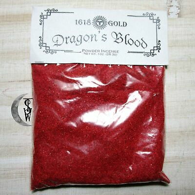 Dragons Blood Power Match Light Powder Incense 1oz Bag Wicca Witch Spell Supply