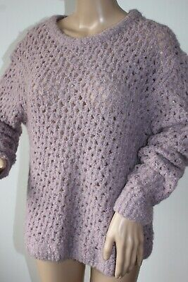 Noa Noa Ladies Lovely Jumper Loose Knit Style Wool / Aplaca Blend Size M