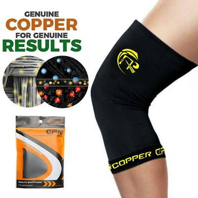 Knee Support Brace Compression Copper Sleeve Arthritis Pain Relief Gym Sports US