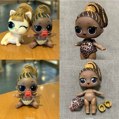Real 3PCS LOL Surprise Doll FIERCE BABY BIG Sister & LIL FIERCE MEOW & Pet Toys