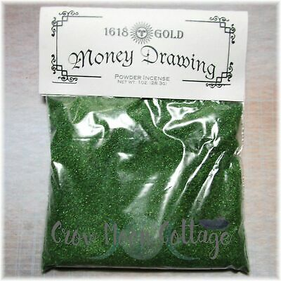 Money Drawing Match Light Powder Incense ~ 1oz Bag Wicca Witch Spell Supply