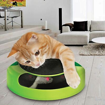 Catch The Mouse Pet Cat Motion Game With Scratch Pad Plush Moving Claw Toy TV