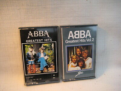 2x MC- ABBA: Greatest Hits - 1976/ 79 UK (2x wie neu)