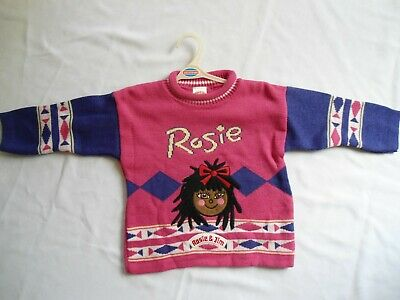 Vintage Rare New Rosie And Jim 1997 Jumper Aged 1/2 Years