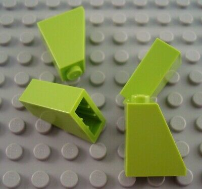 New LEGO Lot of 4 Light Bluish Gray 2x1x2//3 Slopes with 4 Slots
