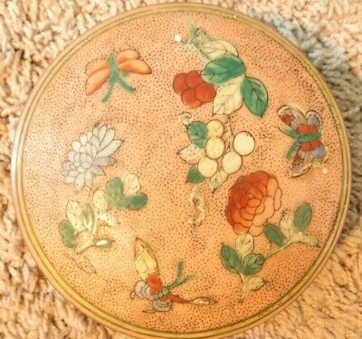 Japanese Porcelain Covered Candy / Trinket Dish In Beautiful Shape--Very Nicemd