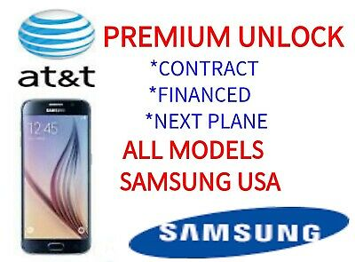 At&T Premium Unlock Code Service For At&T Samsung Galaxy S10 S10+ Note 10 9 J7