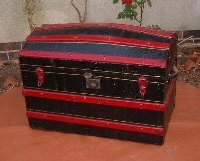 Antique  Travel Trunk -Steamer Trunk / Storage / Toy Box / Case/ Chest -Fabulous