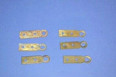 6 Vintage Wall Clock Bracket Support Hanger Brass Plated Steel