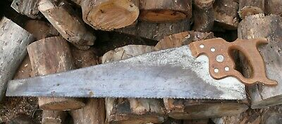 old Antique Disston panel saw about 74cm long