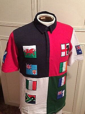 England Scotland Wales Ireland Shirt Small 38 Inch Chest Rugby Union Jersey