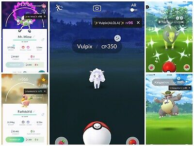 Pokemon Go  Shiny Tauros or Kangaskhan or Farfetch'd or Mr.Mime  - Account mini