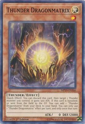3x Thunder Dragonmatrix - 1st Ed - MP19-EN166 - Common - NM