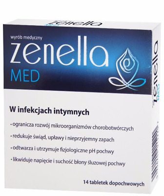 ZENELLA MED Thrush Bacterial Vaginosis 14 tablets