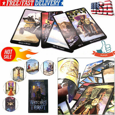 78~Cards Witch Tarot Deck Future Fate Indicator Forecasting Cards Gift TableGame