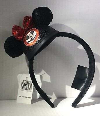 Disney Park Minnie Mickey Mouse Club Mouseketeer MiniSequin Ear Hat Headband New