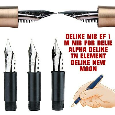 DELIKE Nib EF Bent/EF/M Nibs For DELIE Alpha DELIKE Fountain Pens Replace Nibs