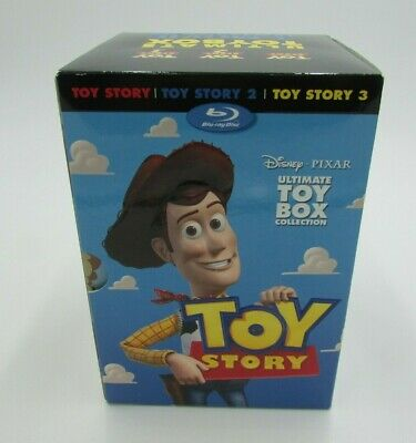 Toy Story Trilogy Disney Pixar Blu-ray/DVD, 2010, 10-Disc Set Great Condition