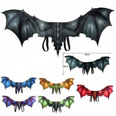 Halloween Dragon Wings Kids Adult Costume Cosplay Realistic Fancy Dress