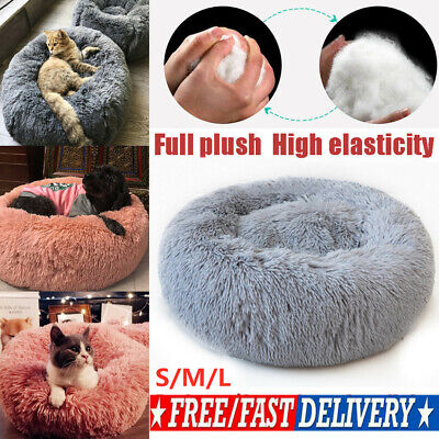 Pet Dog Cat Calming Bed Round Nest Warm Soft Plush Sleeping Bag Comfy Flufy Hot!